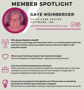 Garage Member Spotlight - Gaye Weinberger